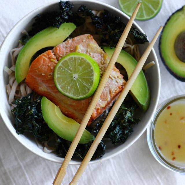 Miso Lime Salmon Bowls