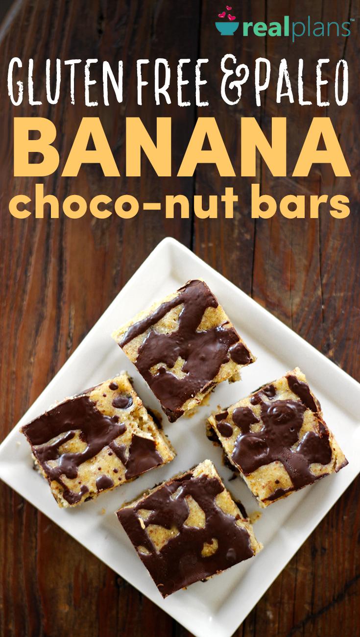 Banana Choco-Nut Bars Recipe   Real Plans