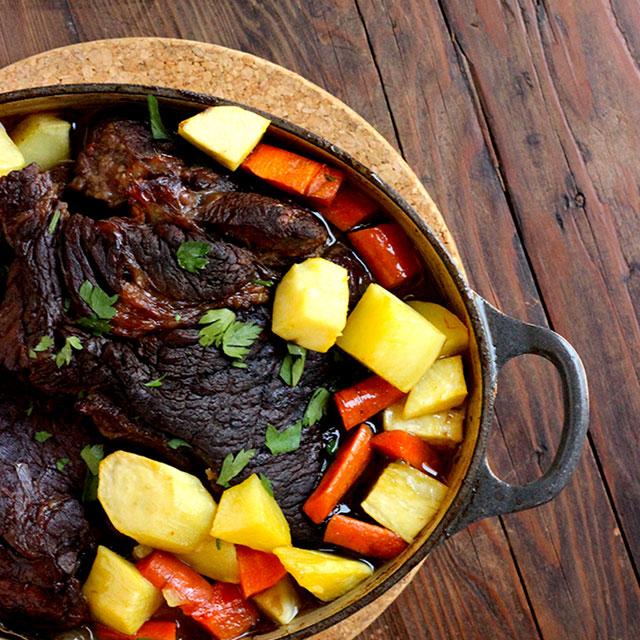 Classic Pot Roast with Root Veggies