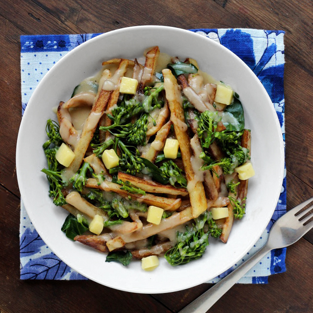Poutine with Broccolini