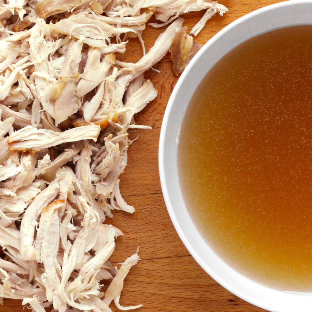 Basic Chicken Stock and Shredded Chicken - Real Plans