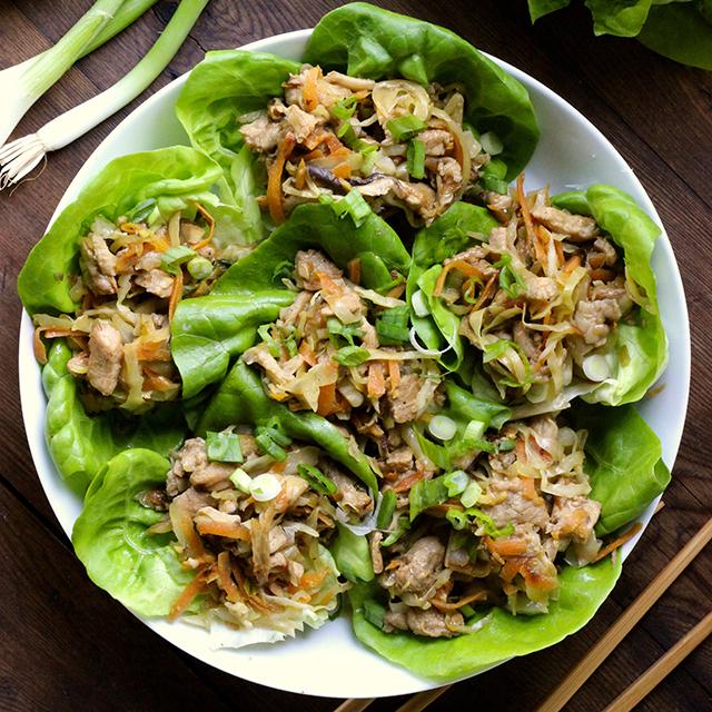 Mu Shu Pork Lettuce Cups - Real Plans