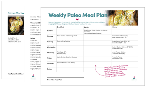 Free Paleo Meal Plans - Real Plans
