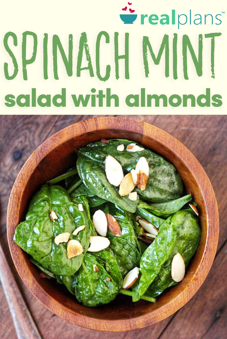 Spinach Mint Salad with Almonds